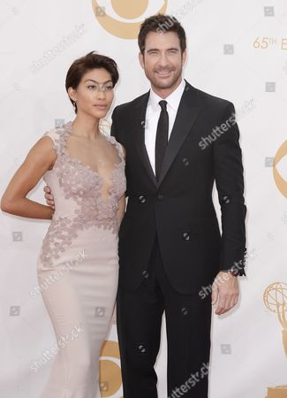 Us Actor Dylan Mcdermott (r) and Shasi Wells (l) Arrive For the 65th Primetime Emmy Awards Held at the Nokia Theatre in Los Angeles California Usa 22 September 2013 the Primetime Emmy Awards Celebrate Excellence in National Primetime Television Programming United States Los Angeles