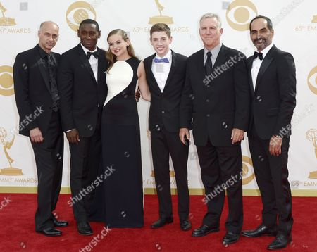 Cast Members of the Us Show 'Homeland' (l-r) David Marciano David Harewood Morgan Saylor Jackson Pace Jamey Sheridan Navid Negahban Arrive For the 65th Primetime Emmy Awards Held at the Nokia Theatre in Los Angeles California Usa 22 September 2013 the Primetime Emmy Awards Celebrate Excellence in National Primetime Television Programming United States Los Angeles