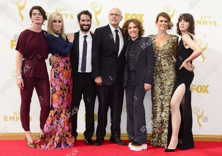 (l-r) Gaby Hoffman Judith Light Jay Duplass Jeffrey Tambor Jill Soloway Amy Landecker and Alison Sudol Arrive For the 67th Annual Primetime Emmy Awards Held at the Microsoft Theater in Los Angeles California Usa 20 September 2015 the Primetime Emmy Awards Celebrate Excellence in National Primetime Television Programming United States Los Angeles