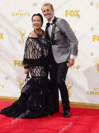 Stock Image of Sue Wong (l) and Prince Mario-max Schaumberg-lippe Arrive For the 67th Annual Primetime Emmy Awards Held at the Microsoft Theater in Los Angeles California Usa 20 September 2015 the Primetime Emmy Awards Celebrate Excellence in National Primetime Television Programming United States Los Angeles