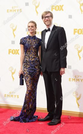 Christine Marzano and Stephen Merchant Arrives For the 67th Annual Primetime Emmy Awards Held at the Microsoft Theater in Los Angeles California Usa 20 September 2015 the Primetime Emmy Awards Celebrate Excellence in National Primetime Television Programming United States Los Angeles