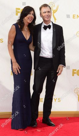 Louise Rodrigues (l) and Phil Keoghan (r) Arrive For the 67th Annual Primetime Emmy Awards Held at the Microsoft Theater in Los Angeles California Usa 20 September 2015 the Primetime Emmy Awards Celebrate Excellence in National Primetime Television Programming United States Los Angeles