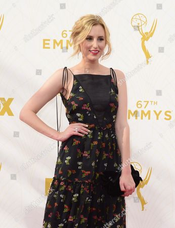 Stock Image of Stephanie Drake Arrives For the 67th Annual Primetime Emmy Awards Held at the Microsoft Theater in Los Angeles California Usa 20 September 2015 the Primetime Emmy Awards Celebrate Excellence in National Primetime Television Programming United States Los Angeles