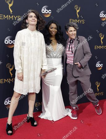 (l-r) Gaby Hoffmann Alexandra Grey and Jill Soloway Arrive For the 68th Annual Primetime Emmy Awards Ceremony Held at the Microsoft Theater in Los Angeles California Usa 18 September 2016 the Primetime Emmy Awards Celebrate Excellence in National Primetime Television Programming United States Los Angeles