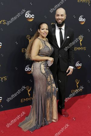 Amber Marino (l) and Peter Saji Arrive For the 68th Annual Primetime Emmy Awards Ceremony Held at the Microsoft Theater in Los Angeles California Usa 18 September 2016 the Primetime Emmy Awards Celebrate Excellence in National Primetime Television Programming United States Los Angeles
