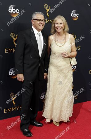 Jeffrey Toobin and Guest Arrive For the 68th Annual Primetime Emmy Awards Ceremony Held at the Microsoft Theater in Los Angeles California Usa 18 September 2016 the Primetime Emmy Awards Celebrate Excellence in National Primetime Television Programming United States Los Angeles