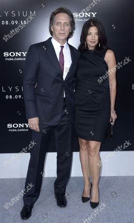 Us Actor and Cast Member William Fichtner (l) and Wife Kymberly Kalil (r) Arrive For the World Premiere of 'Elysium' in Los Angeles California Usa 07 August 2013 United States Los Angeles