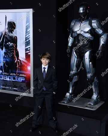 Stock Image of Canadian Child Actor and Cast Member John Paul Ruttan Arrives For the Los Angeles Premiere of 'Robocop' at Tcl Chinese Theatre in Hollywood California Usa 10 February 2014 United States Hollywood