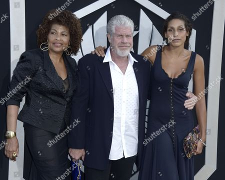 Us Actor and Cast Member Ron Perlman (c) with Wife Opal Perlman (l) and Daughter Blake Perlman (r) Arrives For the Los Angeles Premiere of 'Pacific Rim' at Dolby Theatre in Hollywood California Usa 09 July 2013 United States Hollywood