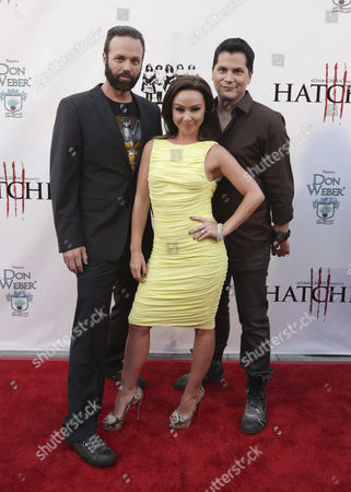 Us Director Bj Mcdonnell (l) Us Actor and Cast Member Danielle Harris (c) and Us Creator of the 'Hatchet' Series Adam Green Arrive For the Premiere of 'Hatchet Iii' in Los Angeles California Usa 11 June 2013 the Film Concludes the Saga of Adam Green?s Hit 2006 Thriller and Follows Marybeth As She Attempts to Destroy a Hulking Seemingly-invincible Sociopath Rampaging Through a Sleepy Louisiana Swamp United States Los Angeles