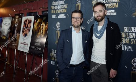 Finnish Director Klaus Haro (l) and Estonian Actor Mart Avandi (r) Arrive For a Symposium at the Egyptian Theatre in Hollywood California Usa 09 January 2016 Haro's Film 'The Fencer' is a Golden Globe Award Nominee For Best Foreign Language Film United States Hollywood