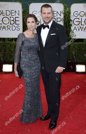 Us Actor Chris O'donnell and Wife Caroline Fentress Arrive For the 71st Annual Golden Globe Awards at the Beverly Hilton in Beverly Hills California Usa 12 January 2014 United States Los Angeles