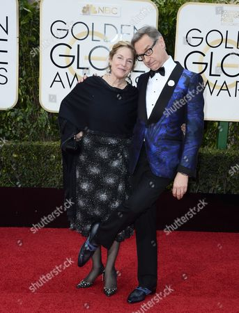 Paul Feig (r) and Laurie Karon Arrives For the 73rd Annual Golden Globe Awards at the Beverly Hilton Hotel in Beverly Hills California Usa 10 January 2016 United States Beverly Hills