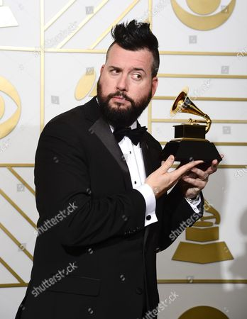 Dave Aude Holds Up His Award For Best Remixed Recording (non-classical) in the Press Room During the 58th Annual Grammy Awards Ceremony at the Staples Center in Los Angeles California Usa 15 February 2016 United States Los Angeles