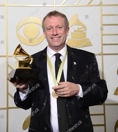 Charles Bruffy Holds Up His Award For Best Choral Performance in the Press Room During the 58th Annual Grammy Awards Ceremony at the Staples Center in Los Angeles California Usa 15 February 2016 United States Los Angeles