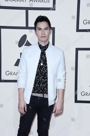 Sam Tsui Arrives For the 58th Annual Grammy Awards Ceremony at the Staples Center in Los Angeles California Usa 15 February 2016 United States Los Angeles