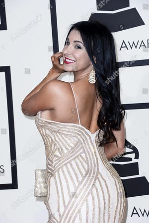 Mayra Veronica Arrives For the 58th Annual Grammy Awards Ceremony at the Staples Center in Los Angeles California Usa 15 February 2016 United States Los Angeles