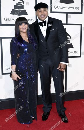 Simone Smith (l) and Host Ll Cool J Arrive For the 58th Annual Grammy Awards Ceremony at the Staples Center in Los Angeles California Usa 15 February 2016 United States Los Angeles