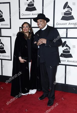 Justine Simmons (l) and Joseph Simmons Arrive For the 58th Annual Grammy Awards Ceremony at the Staples Center in Los Angeles California Usa 15 February 2016 United States Los Angeles