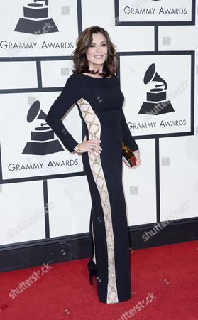 Stock Image of Us Singer Denise Donatelli Arrives For the 58th Annual Grammy Awards Ceremony at the Staples Center in Los Angeles California Usa 15 February 2016 United States Los Angeles