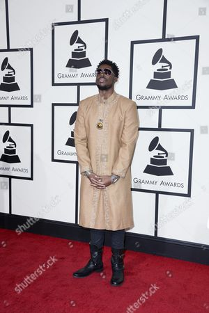 Us Producer and Dj Flying Lotus Arrives For the 58th Annual Grammy Awards Ceremony at the Staples Center in Los Angeles California Usa 15 February 2016 United States Los Angeles