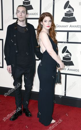 Stock Picture of Anna Wise (r) and Guest Arrive For the 58th Annual Grammy Awards Held at the Staples Center in Los Angeles California Usa 15 February 2016 United States Los Angeles