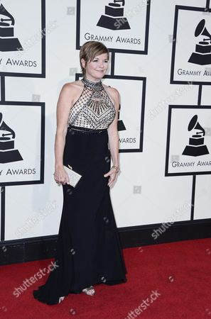 Stock Photo of Karrin Allyson Arrives For the 58th Annual Grammy Awards Ceremony at the Staples Center in Los Angeles California Usa 15 February 2016 United States Los Angeles