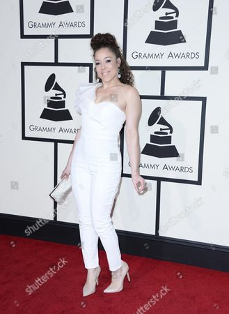 Us Singer Kendra Foster Arrives For the 58th Annual Grammy Awards Ceremony at the Staples Center in Los Angeles California Usa 15 February 2016 United States Los Angeles
