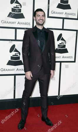 Stock Photo of Us Producer Andrew Cedar Arrives For the 58th Annual Grammy Awards Held at the Staples Center in Los Angeles California Usa 15 February 2016 United States Los Angeles