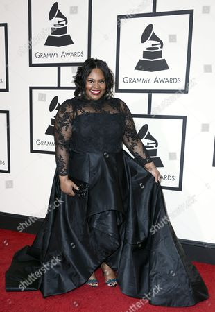 Us Gospel Musician Tasha Cobbs Arrives For the 58th Annual Grammy Awards Held at the Staples Center in Los Angeles California Usa 15 February 2016 United States Los Angeles