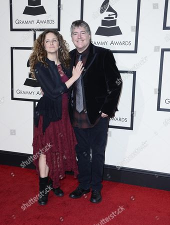 Abigail Washburn (l) and Bela Fleck Arrive For the 58th Annual Grammy Awards Ceremony at the Staples Center in Los Angeles California Usa 15 February 2016 United States Los Angeles