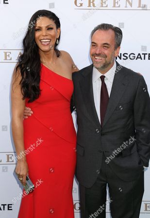 Stock Image of Us Actress Merle Dandridge and Series Executive Producer and Creator Craig Wright Arrive For the Premiere of Own: Oprah Winfrey Network's Series 'Greenleaf' at the Lot West Hollywood California Usa 15 June 2016 United States West Hollywood