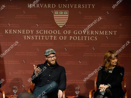Editorial photo of Usa Harvard Seth Rogen - Dec 2014