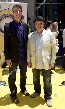Us Writers Cinco Paul (l) and Ken Daurio (r) Arrive For the American Premiere of 'Despicable Me 2' at Grauman's Chinese Theatre in Hollywood California Usa 22 June 2013 United States Hollywood