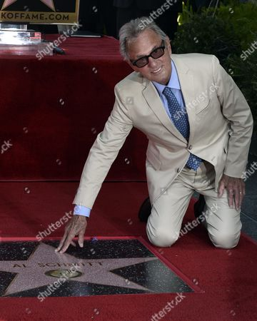 Us Music Producer Al Schmitt Poses with His Star on the Hollywood Walk of Fame During Ceremony in Hollywood California Usa 13 August 2015 Schmitt Received the 2 557th Star on the Walk of Fame in the Category of Recording United States Hollywood