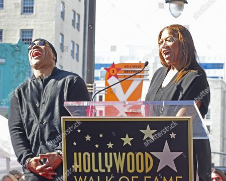 Us Actress/singer Queen Latifah (r) Gets a Laugh From Us Actor/singer Ll Cool J (l) During Ll Cool J's Star Ceremony on the Hollywood Walk of Fame During Ceremony in Hollywood California Usa 21 January 2016 Ll Cool J Received the 2 571st Star on the Walk of Fame in the Category of Recording United States Hollywood