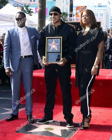 Us Producer/rapper Sean John Combs (l) and Us Actress/singer Queen Latifah (r) Join Us Actor/singer Ll Cool J (c) During His Star Ceremony on the Hollywood Walk of Fame During Ceremony in Hollywood California Usa 21 January 2016 Ll Cool J Received the 2 571st Star on the Walk of Fame in the Category of Recording United States Hollywood