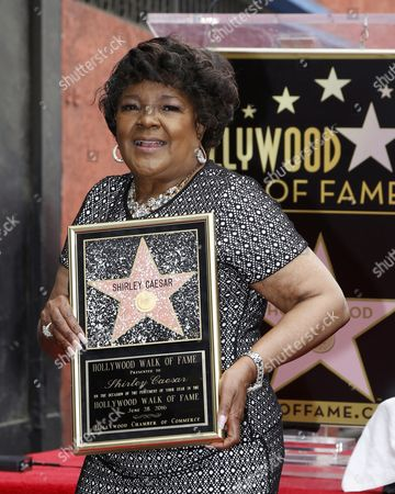 Us Singer Shirley Caesar Poses with Her Star on the Hollywood Walk of Fame During Ceremony in Hollywood California Usa 28 June 2016 Caesar Received the 2 583rd Star on the Walk of Fame in the Category of Recording United States Hollywood