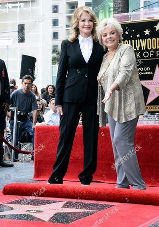 Us Actress Deidre Hall (l) and Us Actress Susan Seaforth Hayes (r) Pose with Hall's Star on the Hollywood Walk of Fame During Ceremony in Hollywood California Usa 19 May 2016 Hall Received the 2 581st Star on the Walk of Fame in the Category of Television United States Hollywood