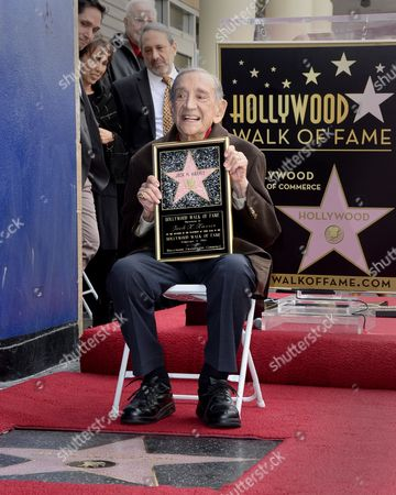 Stock Photo of Us Film Producer Jack H Harris Poses with His Star on the Hollywood Walk of Fame During the Awarding Ceremony in Hollywood California Usa 04 February 2014 Harris was Awarded the 2 517th Star on the Hollywood Walk of Fame in the Category of Motion Pictures United States Hollywood