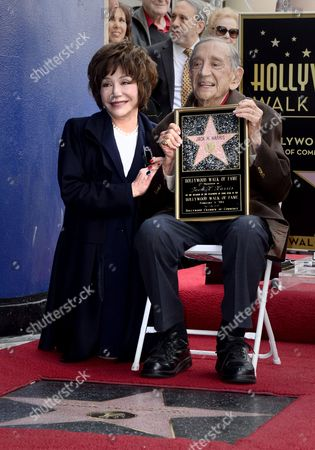Stock Image of Us Film Producer Jack H Harris (r) and His Daughter Lynda Resnick (l) Pose During the Awarding Ceremony in Hollywood California Usa 04 February 2014 Harris was Awarded the 2 517th Star on the Hollywood Walk of Fame in the Category of Motion Pictures United States Hollywood