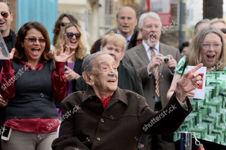Us Film Producer Jack H Harris (c) Reacts As the Crowd Screams During Harris' Star Ceremony on the Hollywood Walk of Fame in Hollywood California Usa 04 February 2014 Harris was Awarded the 2 517th Star on the Hollywood Walk of Fame in the Category of Motion Pictures United States Hollywood