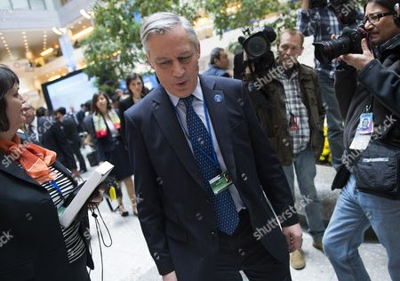 Bank of France Governor Christian Noyer Arrives For the G20 Ministerial Meeting at the Imf in Washington Dc Usa 11 April 2014 the Imf World Bank 2014 Spring Meetings Run Through Sunday 13 April 2014 United States Washington