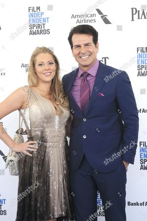 Kirsten Lea (r) and Vincent De Paul Arrive For the 2016 Film Independent Spirit Awards in Santa Monica California Usa 27 February 2016 United States Santa Monica