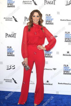 Portuguese Actress Maria Joao Bastos Arrives For the 2016 Film Independent Spirit Awards in Santa Monica California Usa 27 February 2016 United States Santa Monica