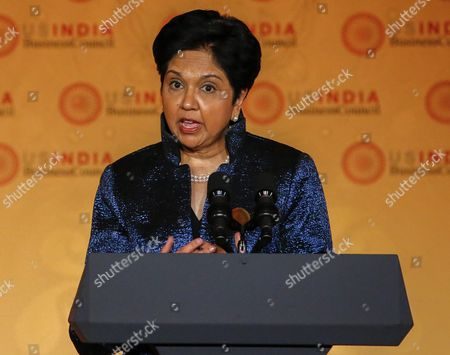 Indra K Nooyi Chairman and Ceo of Pepsico Speaks at the Us-india Business Council (usibc)'s 40th Annual Leadership Summit at the Andrew W Mellon Auditorium in Washington Dc Usa 21 September 2015 the Usibc is a Bilateral Trade Association Between India and the United States United States Washington