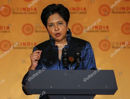 Stock Image of Indra K Nooyi Chairman and Ceo of Pepsico Speaks at the Us-india Business Council (usibc)'s 40th Annual Leadership Summit at the Andrew W Mellon Auditorium in Washington Dc Usa 21 September 2015 the Usibc is a Bilateral Trade Association Between India and the United States United States Washington
