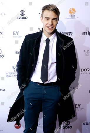 Stock Image of British Actor Nico Mirallegro Arrives For the 43rd International Emmy Awards Gala in New York New York Usa 23 November 2015 United States New York