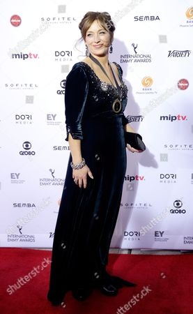 Norwegian Actress Anneke Von Der Lippe Arrives For the 43rd International Emmy Awards Gala in New York New York Usa 23 November 2015 United States New York
