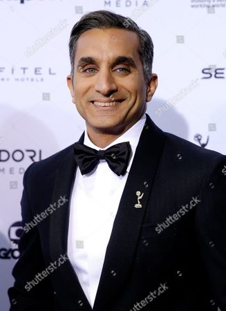 Stock Photo of Egyptian Satirist Bassem Youssef Arrives For the 43rd International Emmy Awards Gala in New York New York Usa 23 November 2015 Youssef is Hosting the Event United States New York